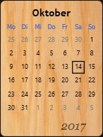 Calendar with Background Image