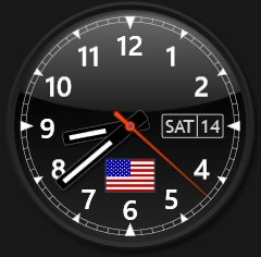 Sharp World Clock - design example