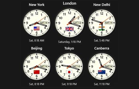 6 Analog Clocks
