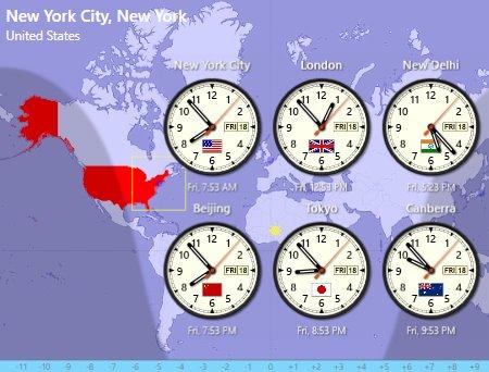 Sharp World Clock For Windows Desktop