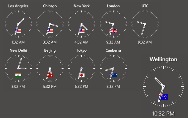 Undocked Clock
